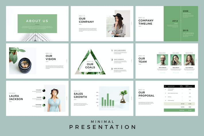Thumbnail for Minimal Presentation PowerPoint Template