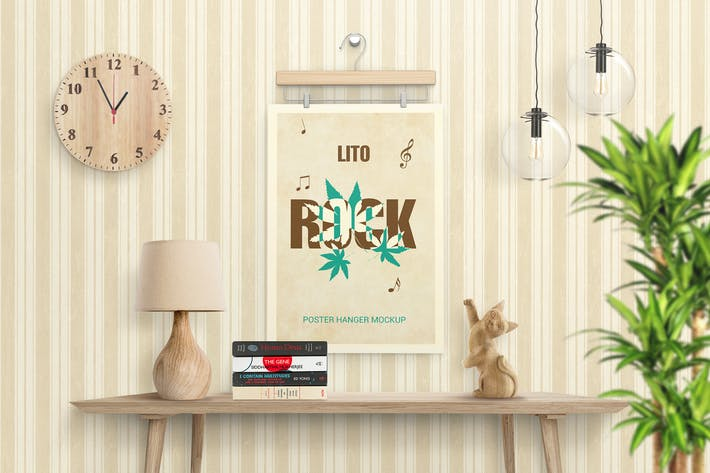Cover Image For Poster Hanger Mockups