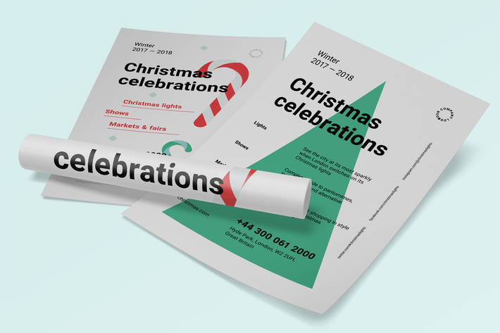 Cover Image For Christmas Poster Template