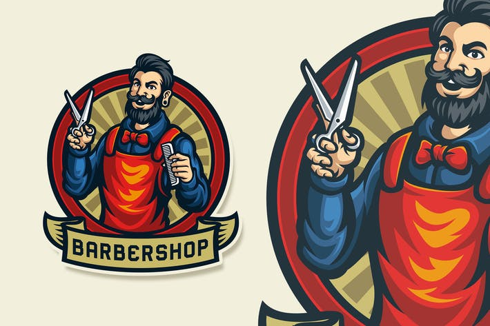 Thumbnail for Barbershop Vintage Logo Template