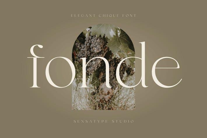 Thumbnail for fonde - elegant chic font