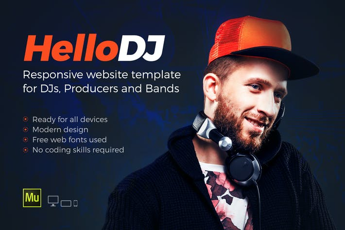 Thumbnail for HelloDJ - One Page Site Template for DJ & Producer