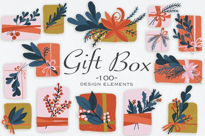 Thumbnail for Gift Box Design Elements