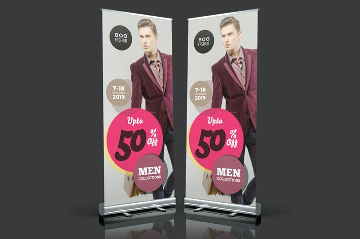Cover Image For Men's Fashion Roll Up Banner