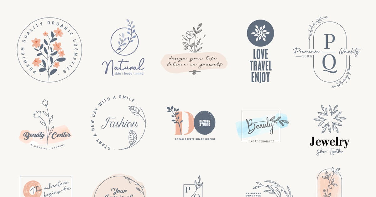Download Set of elegant labels and badges for beauty by PureSolution