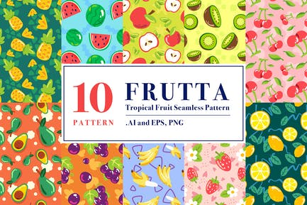 FRUTTA - Patrón sin costuras de frutas tropicales