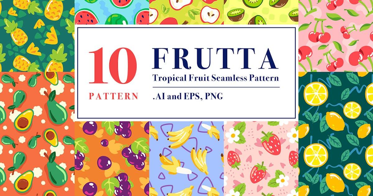 Download FRUTTA - Tropical Fruit Seamless Pattern by InvasiStudio