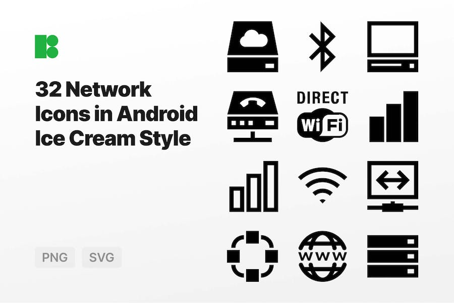 Network Icons in Android Ice Cream Style
