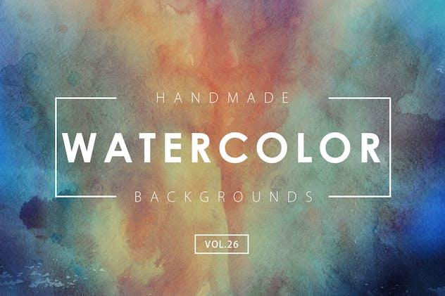 Handmade Watercolor Backgrounds Vol.26