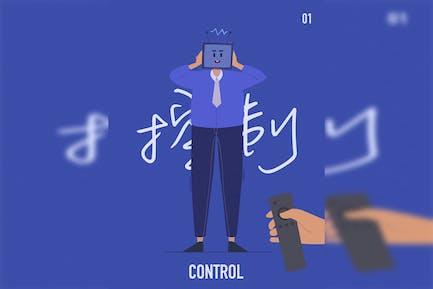 Eine manipulierte Person - flache Illustration