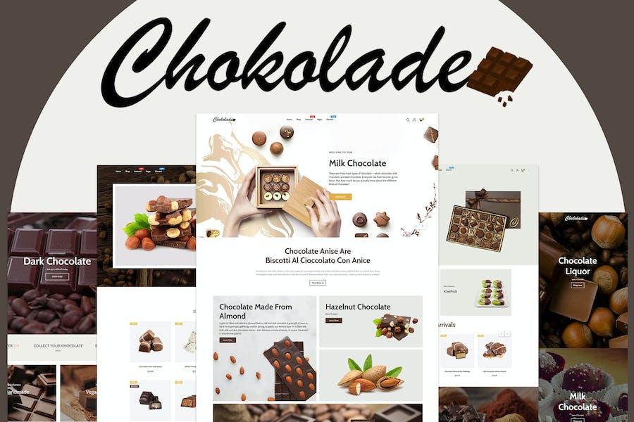 Chokolade | Chocolate Sweets & Candy Cake Shopify