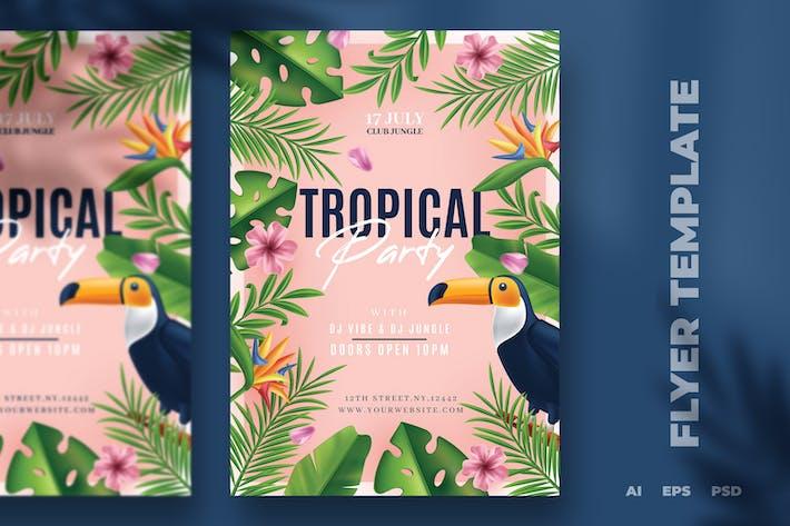 Thumbnail for Summer Jungle Flyer Template