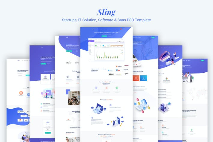 Thumbnail for Sling - Startups IT Solution Software & Saas PSD