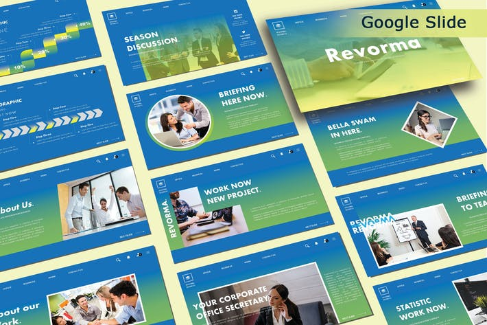 Thumbnail for REVORMA - Бизнес Google Слайды Шаблон