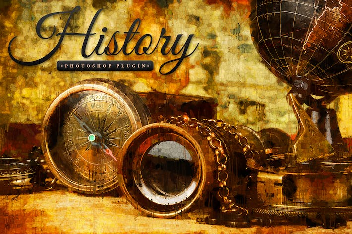 Thumbnail for History - Realistic Painting Art Photoshop Plugin
