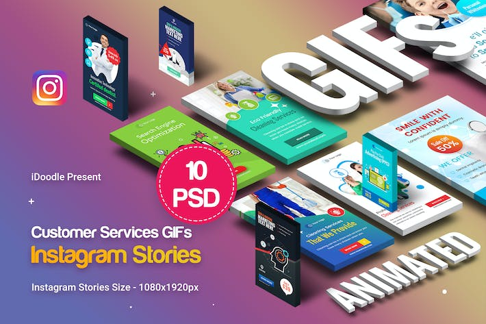 Thumbnail for Customer Services GIFs Instagram Stories