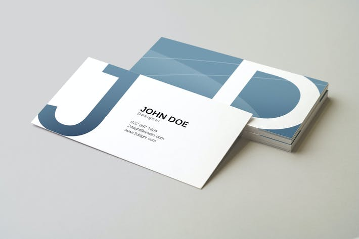 Thumbnail for 90x50 Business Card Mockup v2