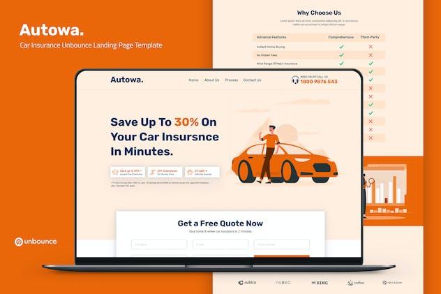 Autowa — Car Insurance Unbounce Landing Page