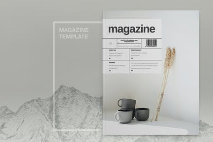 Minimal Lifestyle Magazine Template