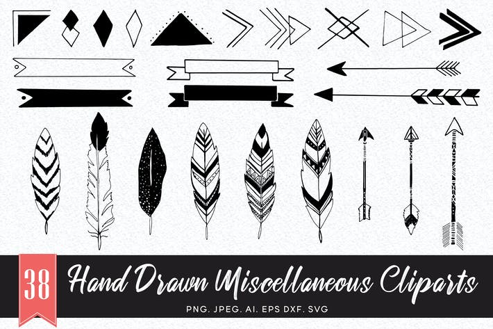 Cover Image For 35+ Handmade Miscellaneous Cliparts