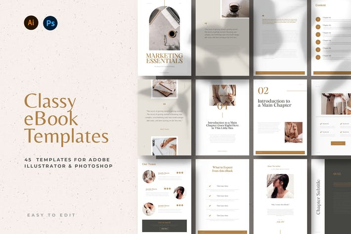 Thumbnail for Classy & Minimal eBook Templates