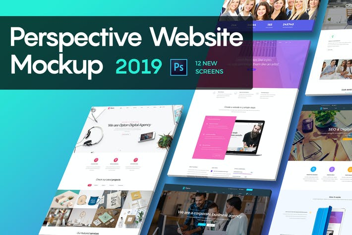 Thumbnail for Perspective Website Mockup 2019