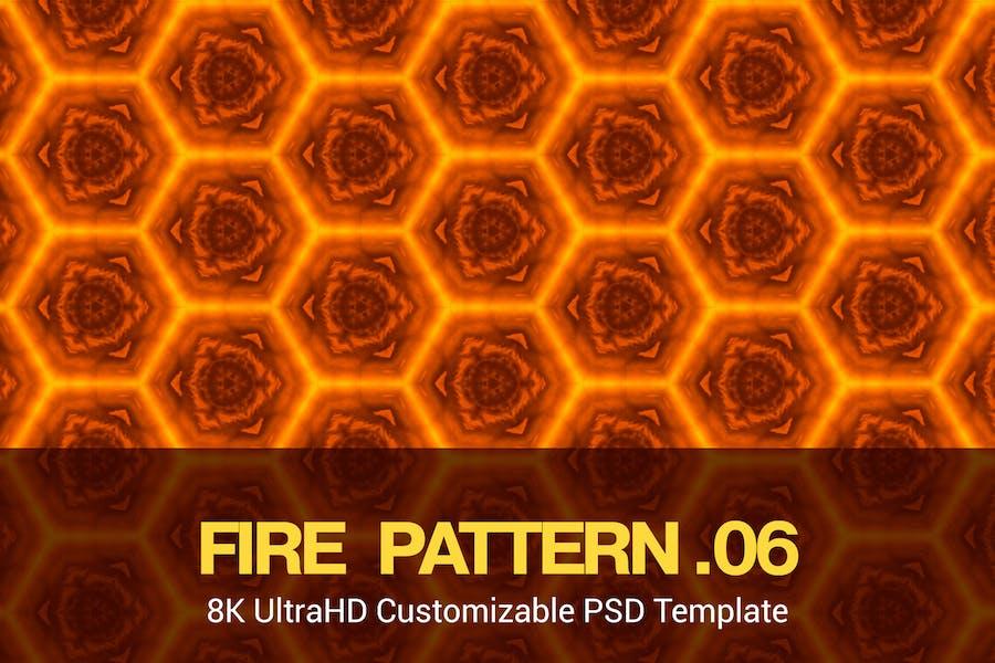 8K UltraHD Seamless Fire Pattern Background