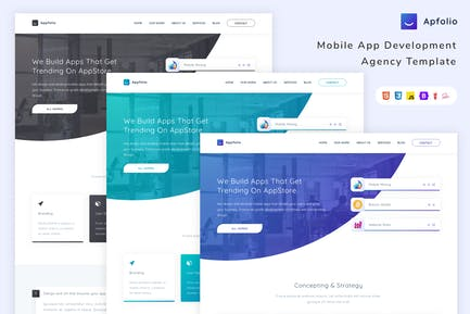 Apfolio - Mobile App Development Agency Template