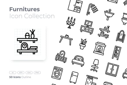 Furnitures Outline Icon