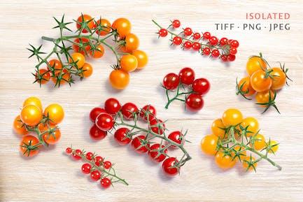 Tomates cherry de arriba
