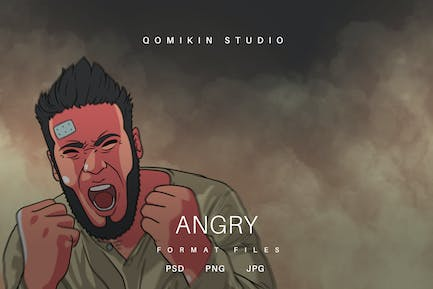 Angry Illustration