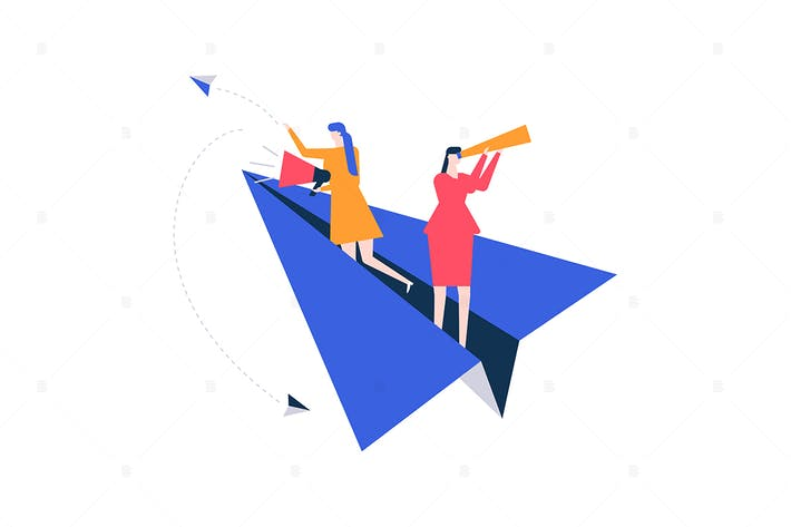 Thumbnail for Vacancy announcement - flat design illustration