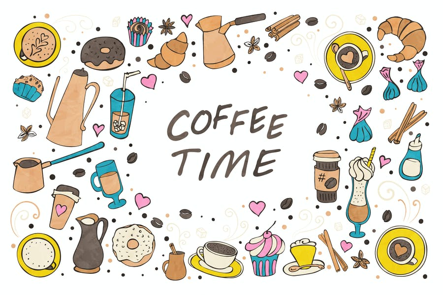 Coffee Time doddle collection