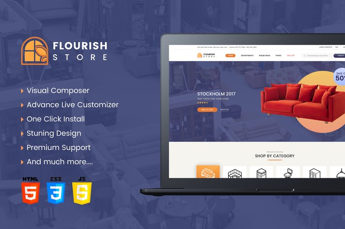 Thumbnail for Flourish- eCommerce HTML5 Template