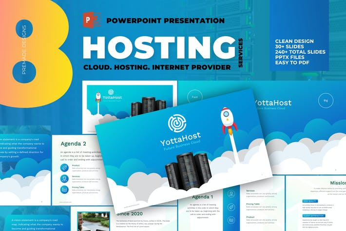 Thumbnail for Hosting Company Profile Powerpoint Template