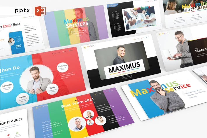 Cover Image For MAXIMUS - Powerpoint  V419