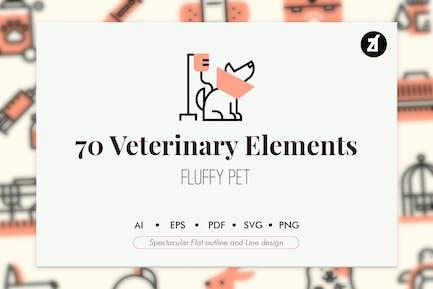 70 Veterinary elements