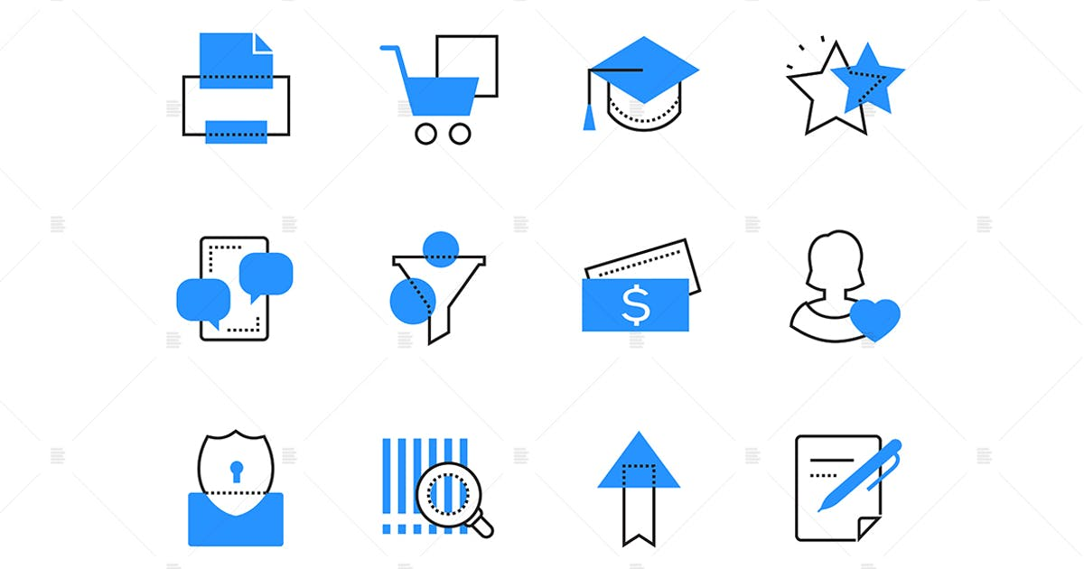 Download Online services and technology color icons set by BoykoPictures