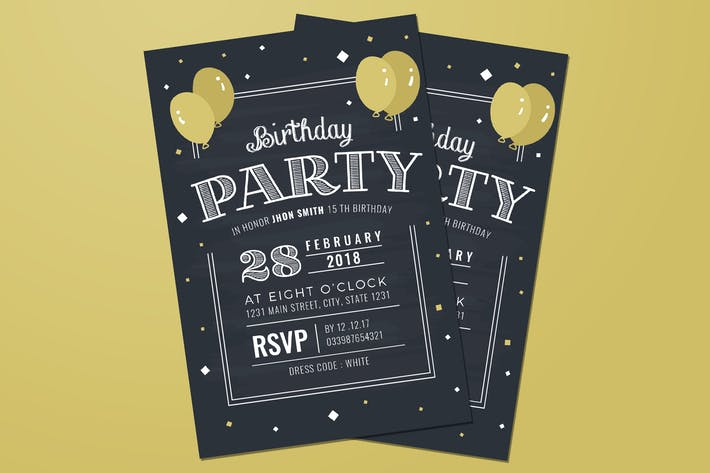 Chalkboard birthday invitation by guuver on envato elements cover image for chalkboard birthday invitation filmwisefo