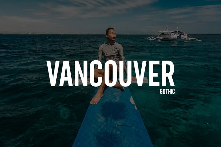 Thumbnail for Vancouver - Gothic Typeface + WebFonts