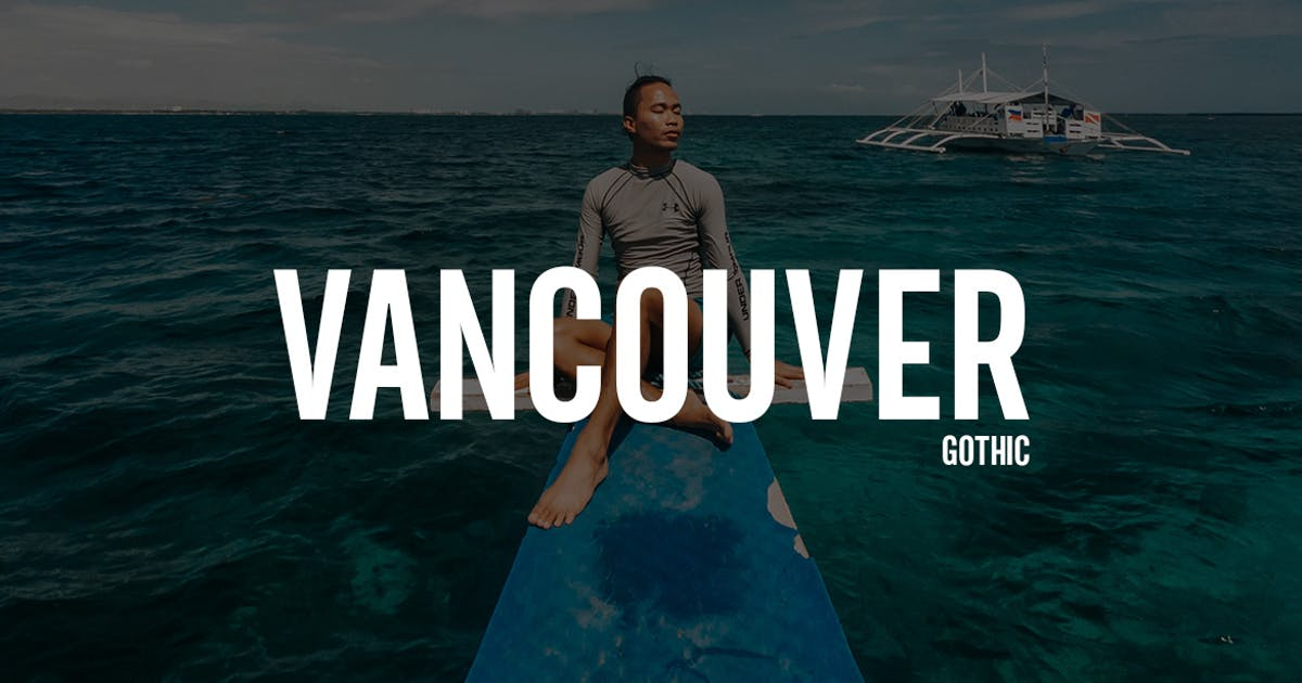 Download Vancouver - Gothic Typeface + WebFonts by webhance