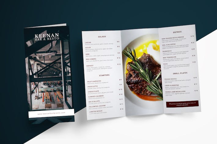Thumbnail for Restaurant Menu Trifold