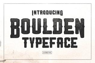 boulden typeface - Decorative Fonts
