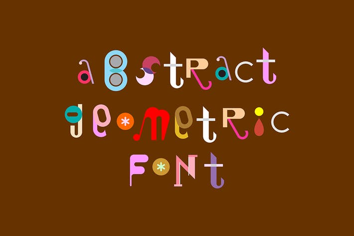 Thumbnail for Abstract Geometric Font vector design