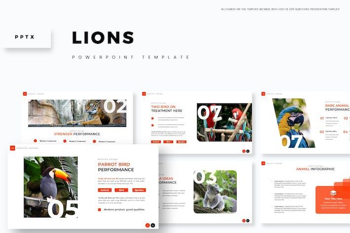 Львы - Powerpoint Шаблон