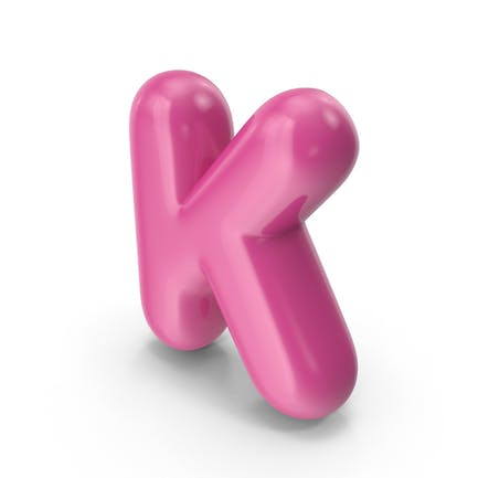 Toon Balloon Letter K