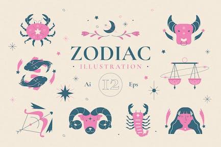 Ilustración del Zodíaco