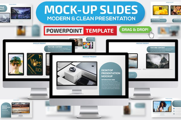 Cover Image For Mock-up Powerpoint Presentation Template