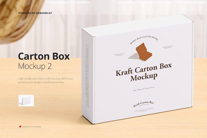 Mailing Kraftkarton Box Mockup 2
