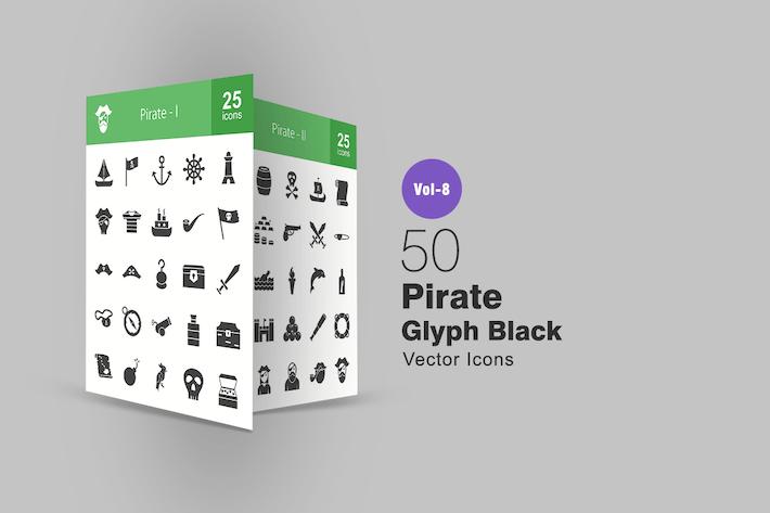 Thumbnail for 50 Piratenglyphe Icons